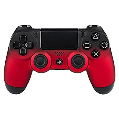 eXtremeRate® Shadow Red Soft Touch Front Housing Top Shell Faceplate Replacement Parts for Playstation 4 DualShock4 PS4 Controller by Extremerate