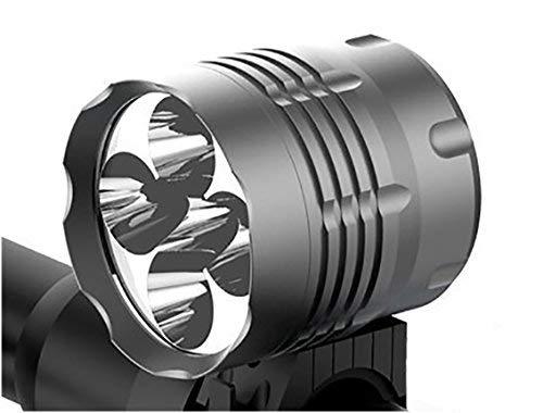 Tobole Koplamp Voor 8000LM 5x LED CREE XM-L T6 voor MTB Fiets met Oplaadbaar Batterijpakket