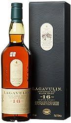 Lagavulin 16 Jahre Single Malt Scotch Whisky - Trockener und rauchiger Islay Whisky mit langem, torfigem Abgang - In traditioneller Geschenkbox - 1 x 0,7l