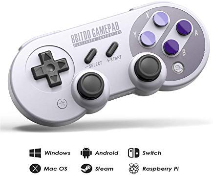 8Bitdo SN30 Pro Wireless Bluetooth Controller mit Joysticks Rumble Vibration USB-C Kabel Gamepad für Windows, Mac OS, Android, Steam, kompatibel mit Nintendo Switch (Snes-spieler Portable)