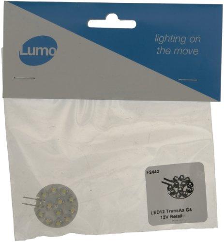 Lumo F2443 LED 12 Transax Halogen G4 Bulb, Pure White