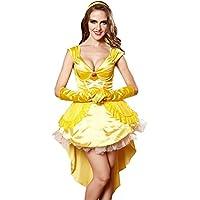 TXXM Mujer Vestido de la Reina Uniformes Halloween Temptation Set Cosplay Disfraces Juego Uniformes (Color : Amarillo, Tamaño : Metro)
