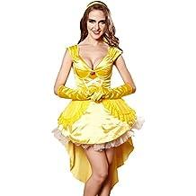 TXXM Mujer Vestido de la Reina Uniformes Halloween Temptation Set Cosplay Disfraces Juego Uniformes (Color