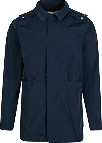 Bellfield Homme Boru Hooded Jacket Mac, Bleu Bleu