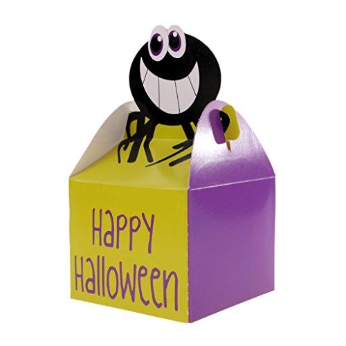 MagiDeal 10 Stück Geschenkkarton Geschenk Schachtel aus Papier Halloween Muster - Spinne, 9 x 9 x 10cm