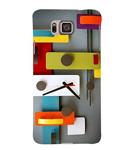 Fiobs Designer Back Case Cover for Samsung Galaxy Alpha :: Samsung Galaxy Alpha S801 :: Samsung Galaxy Alpha G850F G850T G850M G850Fq G850Y G850A G850W G8508S :: Samsung Galaxy Alfa (Mobile Cover Clock White Multi Color)  available at amazon for Rs.309