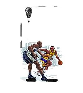 printtech Basketball Sports Back Case Cover for Lenovo A6000 Plus / Lenovo A6000+
