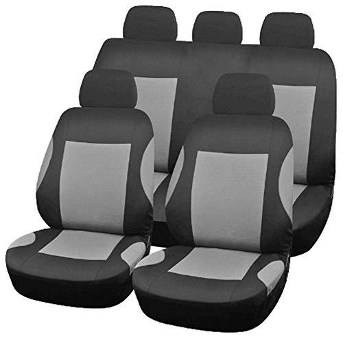 GUOCU Auto-Sitzbezüge, Universal Auto-Sitzschoner Set, Abnehmbar und Waschbar,Grau,Einheitsgröße