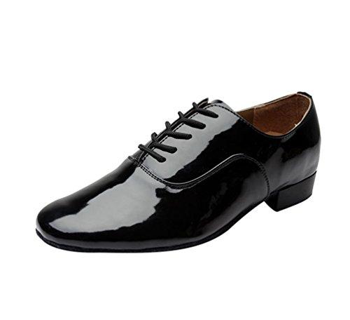 Lihaer Herren Hochwertige und Langlebige Tanzschuhe Standard Ballroom Jazz Latin Tanzschuhe Jungen Schuhe (Jazz-büste)