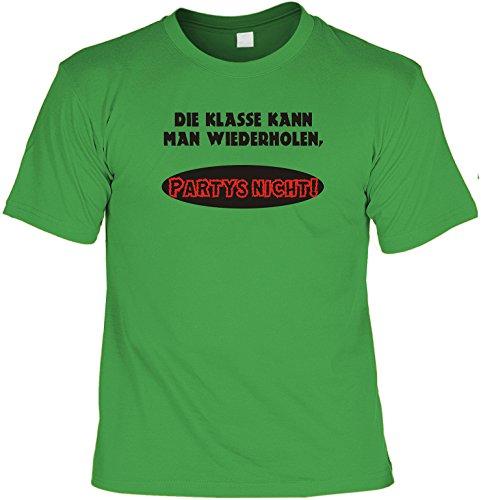 Witziges Sprüche Fun T-Shirt : Die Klasse kann man Wiederholen, Partys (Jugend Green Man Kostüm)