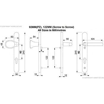 Upvc Door Handles Lever Pad D43 White Amazon Diy Tools