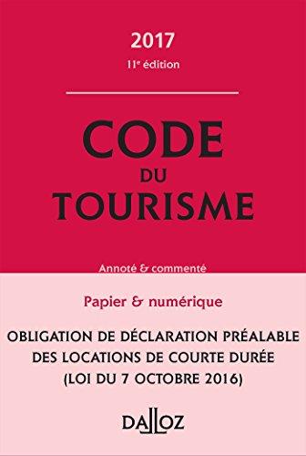 Code du tourisme 2017, commenté