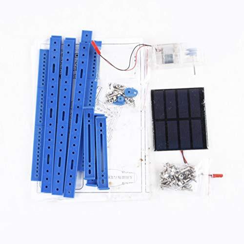 Solar-Version des Sechs-Fuß-Roboters Nr. 62, zusammengebautes DIY-Paket aus handgefertigtem Material - Blau und Schwarz