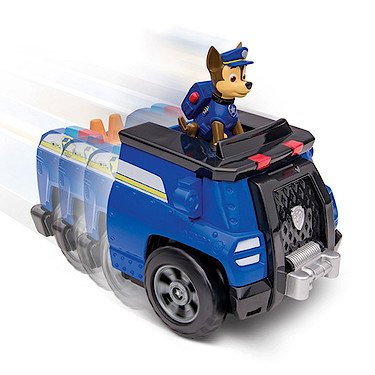 9ef393273d8c6 PAW PATROL - on a Roll - Chase - Figurine Véhicule Effets Sonores Version  Anglaise