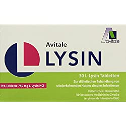 Avitale L-Lysin 750 mg Tabletten, 30 Stück, 1er Pack