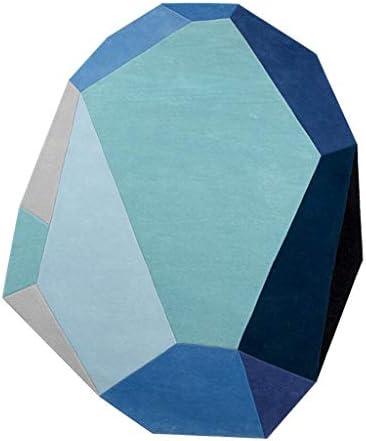LIANTA Tappeto, Forma Irregolare, Triangoli Fatti Blu Motivi Geometrici Fatti Triangoli a Mano da Salotto Tavolino Divano Tappetino (Coloreee   Wool, Dimensioni   1500mm2000mm) 6ec23b