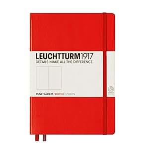 Leuchtturm 1917, taccuino (A5), copertina rigida, 249 pagine A puntini Dotted Rot