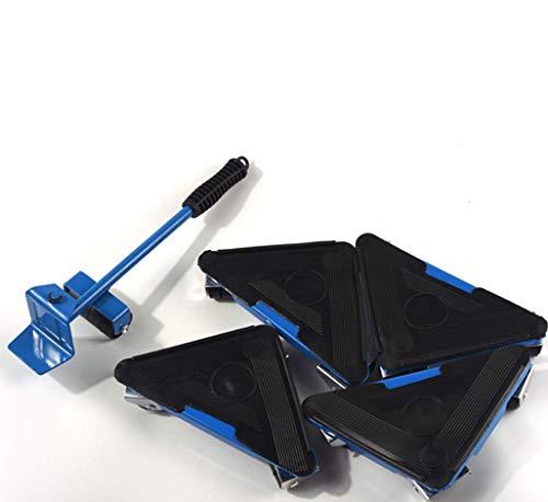 Preisvergleich Produktbild Hohe Qualität 5 Stücke Dreieck Eisen Movers Bewegliche Tragbare Movers Schwere Bewegungswerkzeuge Möbel Bewegen, Blue