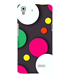 A2ZXSERIES Designer Dots Abstract Back Case Cover for Oppo R7 Lite
