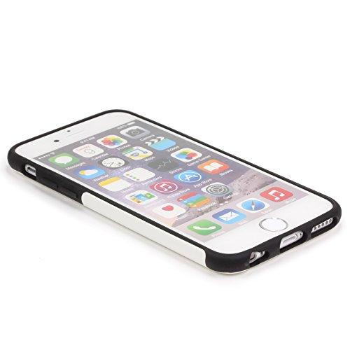 Apple iPhone 6 / 6s Handyhülle von original Urcover® in der Elegance Edition iPhone 6 / 6s Schutzhülle Case Cover Etui Basckcase Orange Weiß