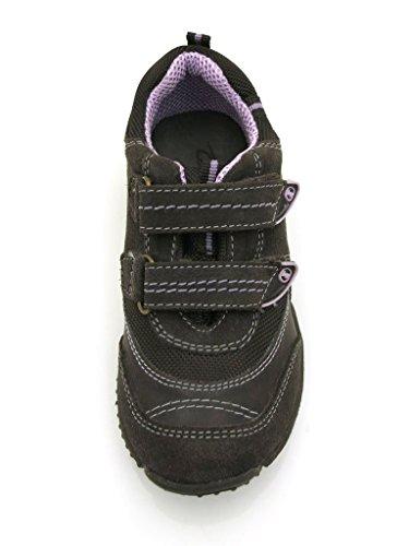 Galaxis Espadrille pour filles Chaussures décontractées Tex-Membrane chaussures marron rose 1719 Marron