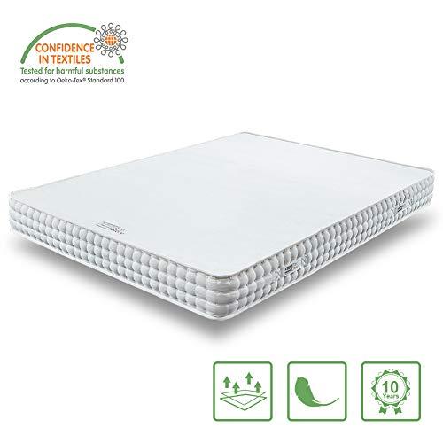 *BedStory Orthopädische 7-Zonen Kaltschaum Matratze, Premium 90x190x18cm Gelschaum Matratzen in Weiß, 2 Härtegrade(H2 & H3) in Einer Matratze ergonomisch für Kinderbett*