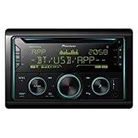 Pioneer Double Din CD with Dual Bluetooth, Black, FH-S725BT