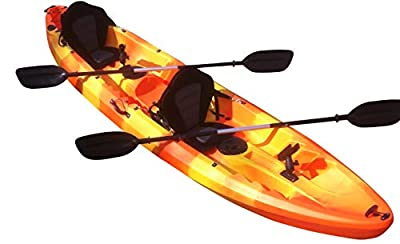 Cambridge Kayaks Double + 1 Sit On Top Fishing Kayak includes 4 Rod Holders, 2 Storage Hatches, 2 Padded Seat & 2 Paddles from Cambridge Kayaks Ltd