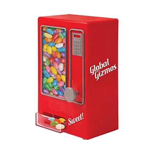 Global Gizmos Retro Style Sweet Automaten (Keine Batterien erforderlich), rot, 16x 14x 30cm (Automaten)