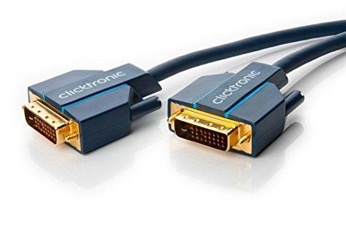 Clicktronic Casual DVI-D Verbindungskabel Dual Link 24+1, digitales Video- / Monitorkabel mit DVI‐D Stecker, 1m
