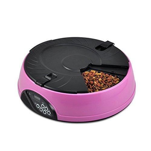 PETCUTE 6 Veces / día LCD Automático Alimentador los Mascotas, Gatos,...