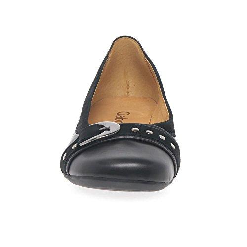 Gabor Indiana, Damen Ballerinas Black/Suede