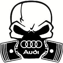 Audi Calavera Pistón coche Vinilo Adhesivo A1 A2 A3 A4 A5 ...