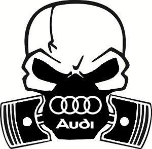 Audi Totenkopf Kolben Replica Auto Vinyl Aufkleber Aufkleber A1A2A3A4A5A6UK Funny Geschenk Humor