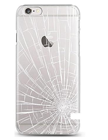 Casetic | iPhone 6, 6S Schutzhülle Damaged TPU Hülle Cover Handyhülle Bumper leichte Handytasche Hülle mit Foto Silikon Case Hüllen sorgen für kratzfesten Schutz