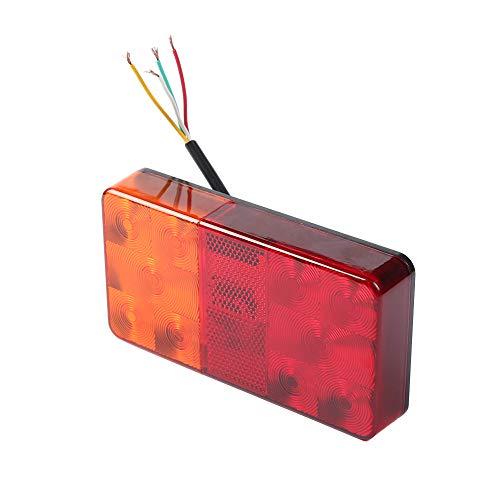 Fajerminart LED Anhänger Rückleuchten, 12V Anhänger Rücklicht Anhänger Kontrollleuchte Rücklicht, Heckbremsanschlag-Anzeigelampe, Geeignet für Wohnwagen, LKW, RV, Anhänger Beleuchtung(10 LED-Chips)
