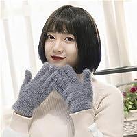 Gloves Guantes Inteligentes Lindos de Las Mujeres, Guantes de Invierno de Las Mujeres, Guantes Lindos del Invierno de Las Mujeres de Peluche,Gris,Una Talla