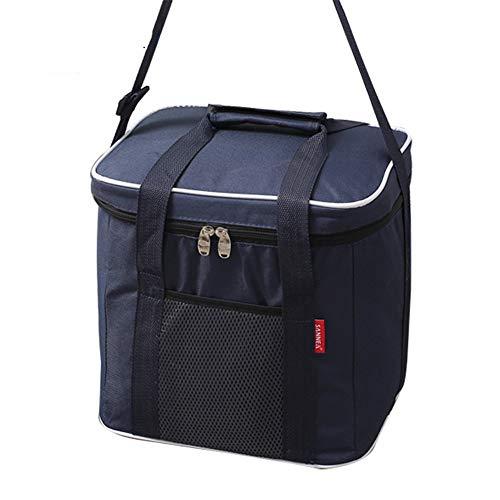 Isolierte Lunch Bag Portable Picknick-Boxen KüHltasche Travel Organizer Wasserdicht,Navy