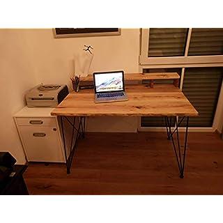Schreibtisch Larsson aus Eiche Hairpin Legs Massiv Eichenholz