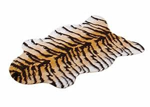 tapis peau de tigre en fourrure synth tique imitation peau de 70 x 100 cm cuisine. Black Bedroom Furniture Sets. Home Design Ideas