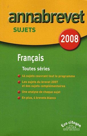 Français Brevet séries générale, technologique et professionnelle : Sujets