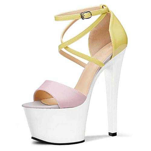 EARIAL& 17cm Fashion Parties Bottom Shoes Women sexy Pump Ankle Strap Shoes Summer Sandals Women's Shoes 02 12