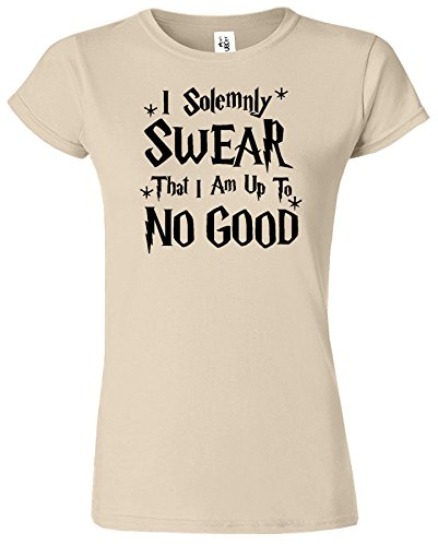 I Solemnly Swear Womens Harry Potter Inspiré Fan Top Tee Sable / Noir Design
