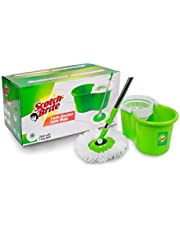 Scotch-Brite 2-in-1 Bucket Spin Mop (Green, 2 Refills)