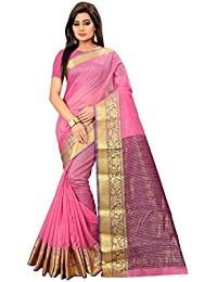 Active Women's Cotton Art Silk Saree Kanjivaram Style Saree (Free Size_Wine)