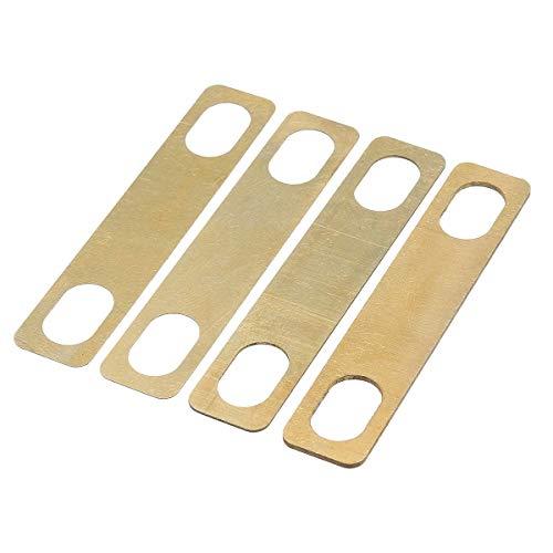 Sourcingmap Halshalben-Set aus Messing, Stärke 0,20,5/1 mm, für Gitarren und Bassgitarren, Ersatzzubehör, 4 Stück