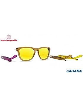 Gafas de sol unisex polarizadas wayfarer UV400 marrones con patillas intercambiables moradas amarillas personalizadas...