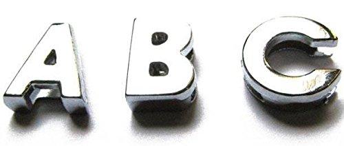Buchstaben für Armband - Hochglanzverchromt - Für Bandbreite 1,0cm