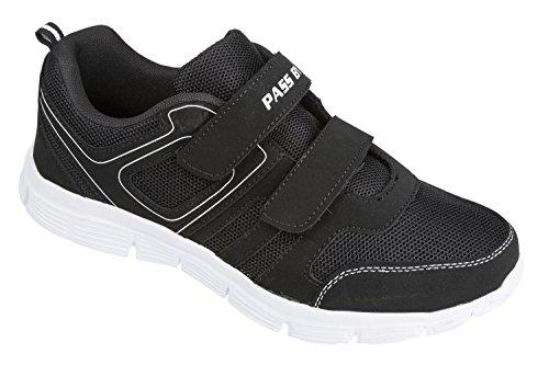 GIBRA chaussures de sport avec fermeture en velcro blanc/noir taille 36 à 41 Noir - Noir/blanc