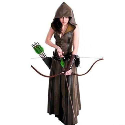 YyiHan Costume Cosplay, Anger Femme médiévale Robin des Bois Cosplay Costume Maquillage Cosplay Tentation Uniforme Costume de scène de Partie de Halloween Spectacle Costume